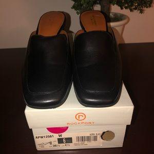 Rockport Ladies Black Mule Shoes